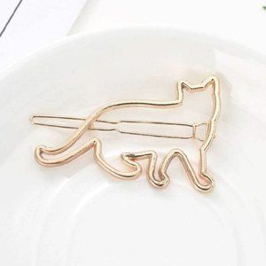 Brandy Melville Gold Metal Cat Kitten Hair Clip